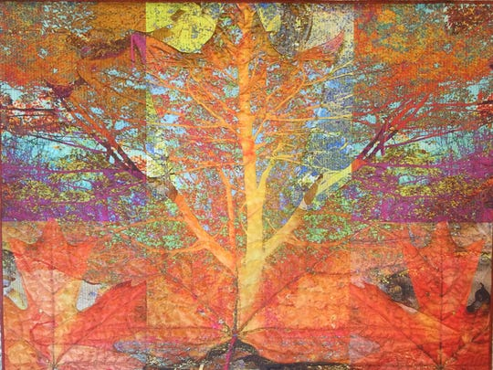 "A piece from Karen Hampton's ""Tree of Life"" series that is a part of FIBERVISIONS."