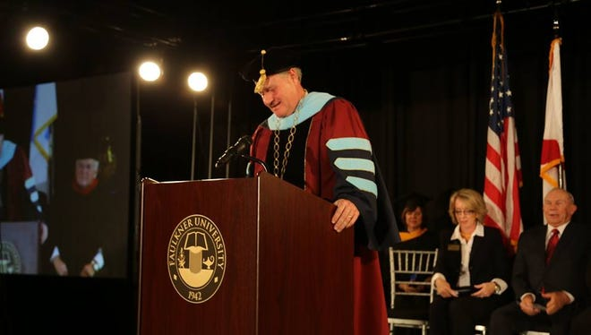 Mike Williams was officially inaugurated as Faulkner University's eighth president Feb. 12.
