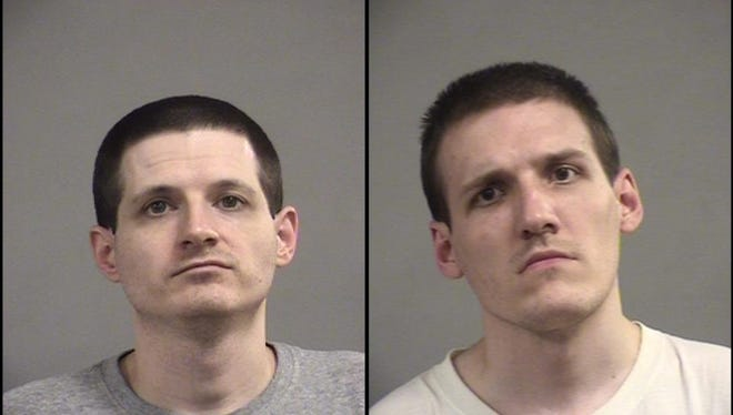 Jason Webb, left, and Bryan Webb, right, were arrested on allegations of child pornography.