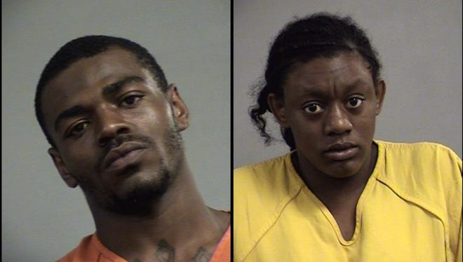 Isaiah Hayes, left, and Destiny Rhodes, right, are accused of robbing four Walgreen's at gunpoint.