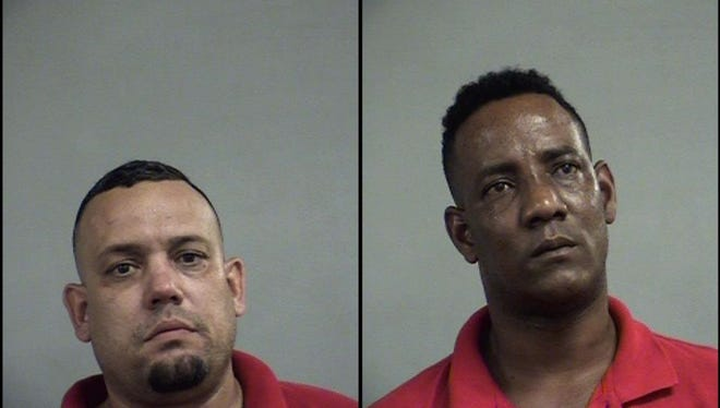 Yoemi Perez, left, and Reinoso Lusvan, right, were arrested after police said they found drugs and fraudulent credit cards at their home.