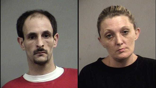 Jeffrey Vierling, left, and Jessica Thomas, right, are accused of robbing a pharmacy in late-June.