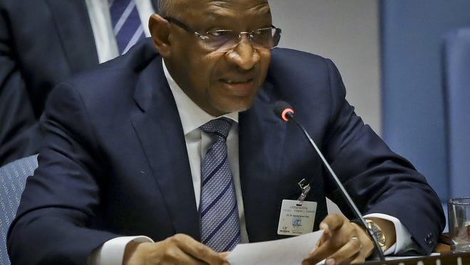 Prime Minister of Mali Soumeylou Boubèye Maïga address a meeting of the United Nations Security Council.
