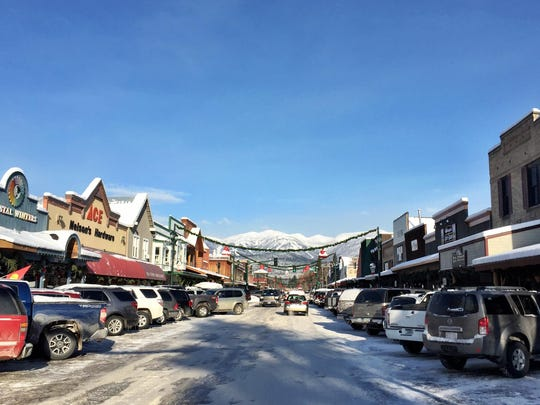 Whitefish is bustling in December.