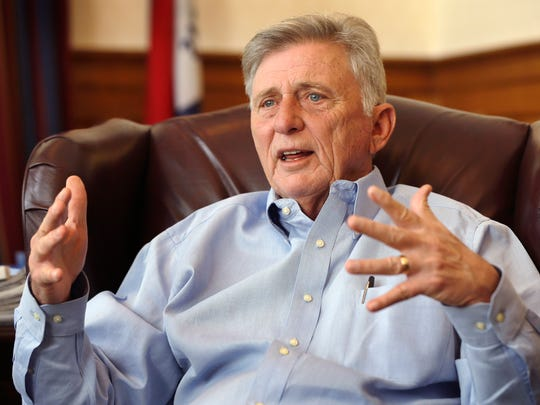 """Arkansas Gov. Mike Beebe and a group of Republican lawmakers teamed up to create the """"private option,"""" which uses federal funds to purchase private health insurance for the poor. The fate of the Medicaid expansion program could end up defining Beebe's legacy as governor."""