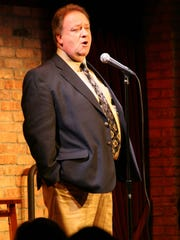 """Steve """"the Round Guy"""" Pilchen performs at the the Funny Bone in 2007."""