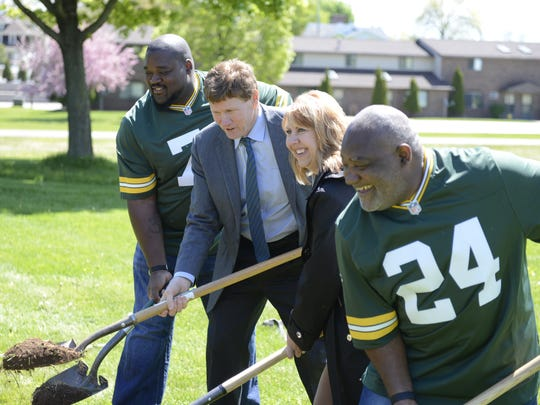 Green Bay Packers President and CEO Mark Murphy at a tree-planting event in De Pere, May 17, 2016.