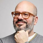 Actor and comedian David Cross performs at the Brown Theatre