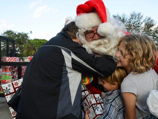 Larry Sinclair, AKA the Broadmoor Santa and his helpers
