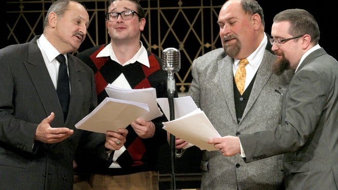 Hartland players present their own take on It's a Wonderful Life. From left: Bill Brezina, Dan Steinkopf, Kevin Whitehead and Brian Pierce.