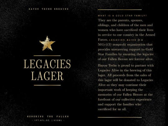 Bayou Teche Brewing's Legacies Lager supports Gold