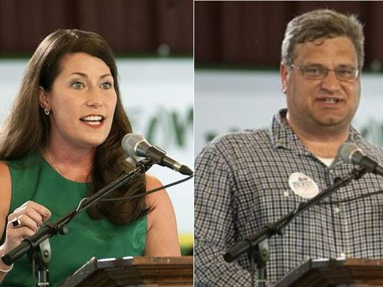 Alison Lundergan Grimes and Steve Knipper.