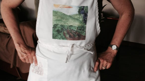 Part of the home cook's must-have wardrobe is a good selection of utilitarian aprons.