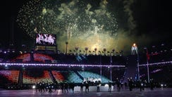 Fireworks during the closing ceremony.