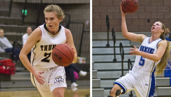 Desert Hills' Ashley Beckstrand and Dixie's Aubri Challis are among the players named this week in the Region 9 girls' basketball blog.