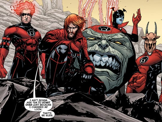 guy gardner and his gang visit earth in red lanterns