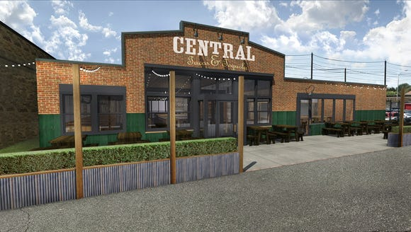 The proposed exterior of Central Taco & Tequila at