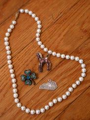 Some of Heather Watson's jewelry. Feb. 9, 2016.