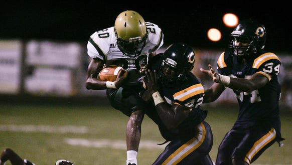 Harding (42) led Carencro in tackles and sacks as a