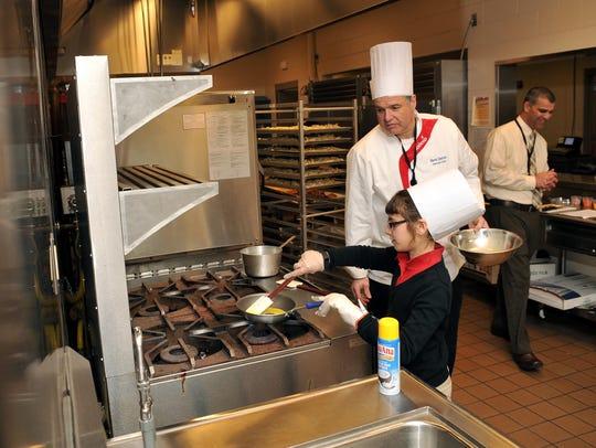 Petway Elementary School fifth-grader Sarah Hullihen,
