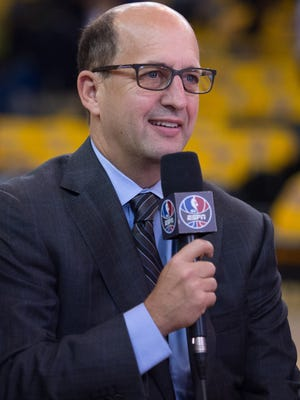 ESPN broadcaster Jeff Van Gundy says he thinks the Finals will again be Golden State vs. Cleveland.