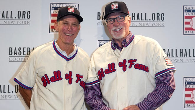 Former Tigers Alan Trammell, left, and Jack Morris will be inducted into the Hall of Fame on Sunday.