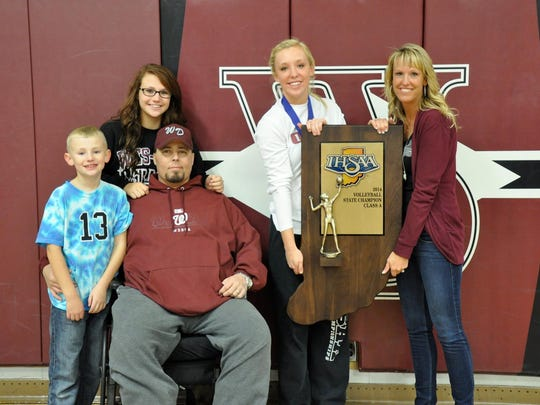 Even as the cancer worsened, Ryan Berry still tried to make as many games as possible. He was able to watch Mariah and Wes-Del win a state volleyball championship last fall.