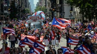 This year, the Puerto Rican Day Parade in New York City is also an opportunity to recognize the devastation of Hurricane Maria. The Category 4 hurricane caused more than $90 million in damage, and around 5% of the island is still without power.