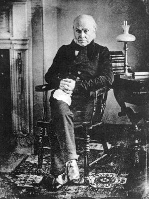 John Quincy Adams was the sixth president of the United States, from 1825 to 1829. In the last 17 years of his life, he opposed slavery and predicted that if a civil war ever broke out, the president should end this human bondage by using his powers.