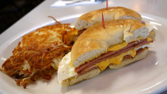 Taylor Ham breakfast sandwich at 40th Street Cafe.