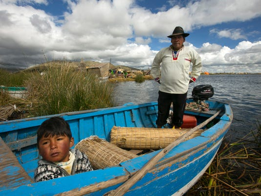 Lake Titicaca fisherman