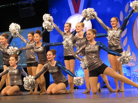 West Shore Jr./Sr. High dance troupe at the 2016 Florida Regional Dance Championship at ESPN Wide World of Sports.