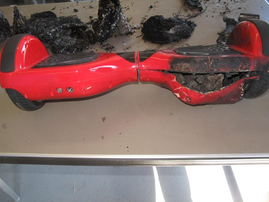 Damaged hoverboard recovered in Nashville.