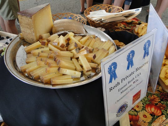 The award winning cheese from Emmi Roth was on the sampling table for visitors to try during the cheese and butter auction at the Wisconsin State Fair.
