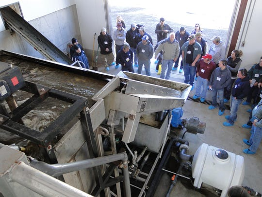 Members of the PDPW looked at the system Robinway Dairy
