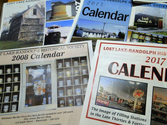 Some of Arnie Bashynski's calendars