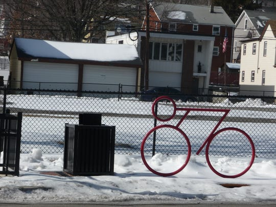 Haledon's new village square would be an ideal spot for a bicycle-sharing location, Mayor Domenick Stampone says.