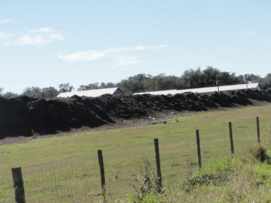 The manure solids at Dakin Dairy are mixed with landscape