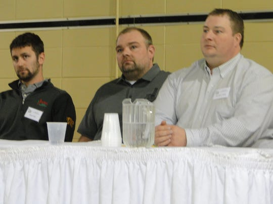 Ryan Nell, a Beaver Dam dairy and crop farmer, Ricky Kratz, a Slinger crop farmer, and Jonathan Gibbs, a Fox Lake crop farmer shared ideas on how they use no-till and strip tillage on their farms and how cover crops can work with these systems.
