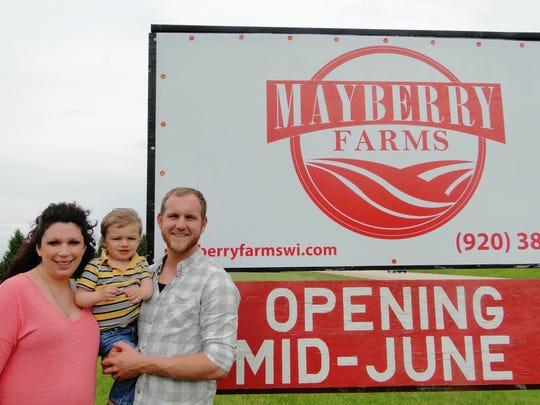 Danielle and Tim Clark (and their son JP)  recently realized their dream of buying a farm of their own. - a 50 acre strawberry farm that will open in mid-June.