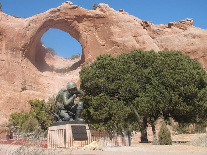 This Navajo Code Talkers monument is located in Window