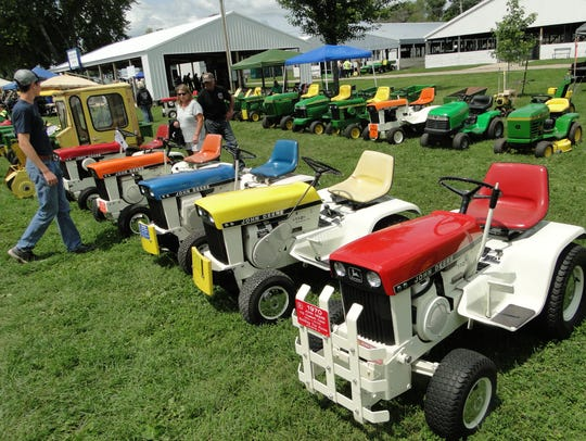 These models, known as patio tractors were featured
