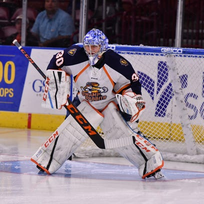 Greenville Swamp Rabbits goaltender Ty Rimmer  shares how he stuck it to cancer