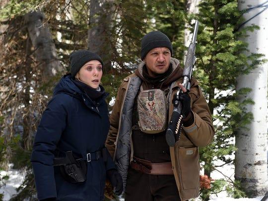 Elizabeth Olsen and Jeremy Renner hunt for a killer