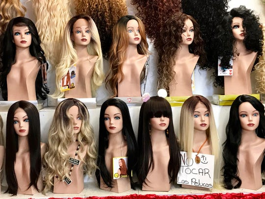 A large selection of women's wigs at Sunrise Wigs,