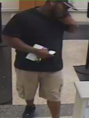 Have you seen this man? He is suspected of robbing the Gulf Winds Bank on Creighton Road the afternoon of Jan. 31.