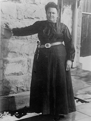 Josephine Conway served as the jailer in San Angelo for 13 years, between 1909 and 1922. She was a member of First Methodist Church, and was married to the last soldier to have served at Fort Concho, Pat Conway.