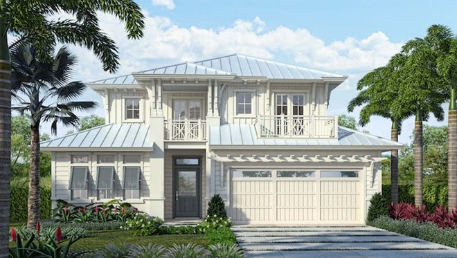 The Watlington model by London Bay Homes in downtown Naples features 4,182 square feet of living space.
