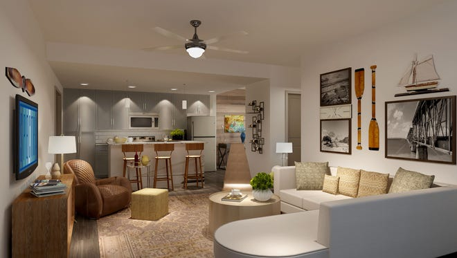 Spectra will feature luxury apartments in South Fort Myers. This renderings shows what the apartments and facilities will look like when complete.
