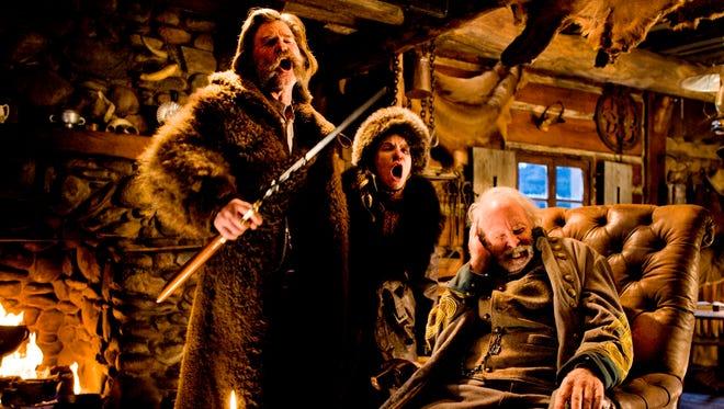 Kurt Russell (from left), Jennifer Jason Leigh and Bruce Dern star in Quentin Tarantino's 'The Hateful Eight.'